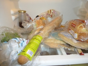 bread in fridge