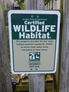 habitat sign