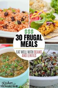 30 frugal meals with beans and lentils