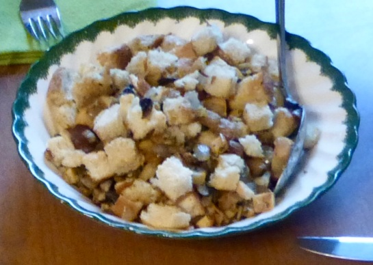 bowl of stuffing