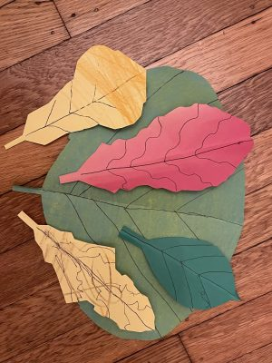 autumn leaves made of colored paper